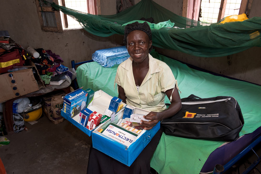 South Sudanese community health worker