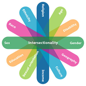 Sex, gender and other intersecting identity factors such as age, religion, language, geography, culture, income, sexual orientation, education, ethnicity, ability